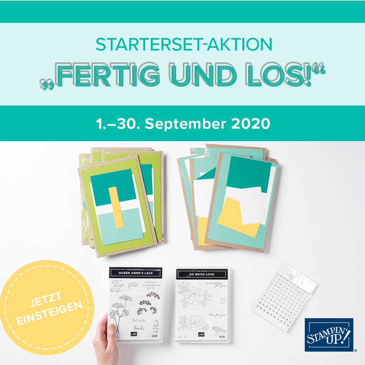 """Starterset-Aktion """"Fertig und los!"""""""