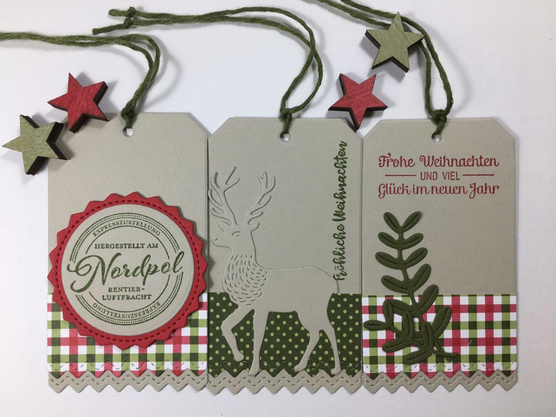 Geschenkanhänger Weihnachtspost
