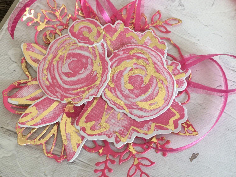 Kunstvoll Koloriert in Bonbonrosa