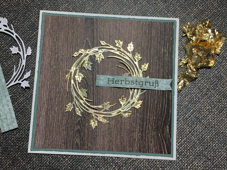 Kranz – Holzdekor – Gold
